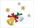 ミニガーゼ刺繍ハンカチ「クリスマスベル」