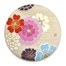 手描き桐手鏡 A. うらら花(ピンク)