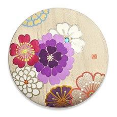 手描き桐手鏡 B. うらら花(パープル)