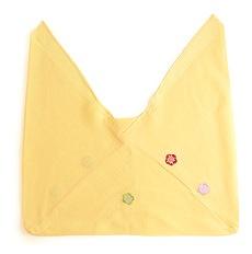正絹三角袋「りんりん」B. クリームイエロー