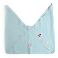 正絹三角袋「りんりん」 D. 水色