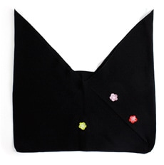 正絹三角袋「りんりん」 E. 黒