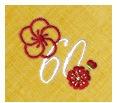 長寿御祝 リネン刺繍ハンカチ「はなことぶき」60-B(還暦・くちなし)