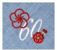 長寿御祝 リネン刺繍ハンカチ「はなことぶき」60-C(還暦・そらいろ)