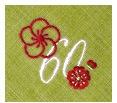 長寿御祝 リネン刺繍ハンカチ「はなことぶき」60-E(還暦・まっちゃ)