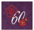 長寿御祝 リネン刺繍ハンカチ「はなことぶき」60-F(還暦・ぶどう)