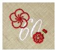 長寿御祝 リネン刺繍ハンカチ「はなことぶき」60-G(還暦・しらちゃ)