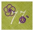 長寿御祝 リネン刺繍ハンカチ「はなことぶき」77-E(喜寿・まっちゃ)