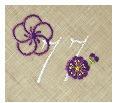 長寿御祝 リネン刺繍ハンカチ「はなことぶき」77-G(喜寿・しらちゃ)