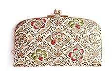 白革 がま口財布 D.梅と桜(緑)