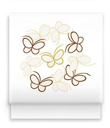 新塩瀬帯「オリジナル蝶」白