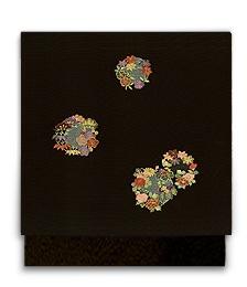 新塩瀬帯「花の丸縫」黒地