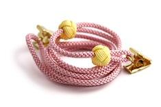 ナフキンクリップ  B. ピンク + 黄色の玉