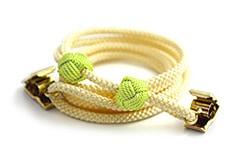ナフキンクリップ  C. イエロー + 緑色の玉