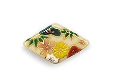 井澤屋オリジナル 清水焼の帯留め D-2. 松竹梅と菊桜