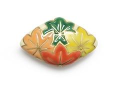 井澤屋オリジナル 清水焼の帯留め C-1. 四ツ紅葉(菱形)