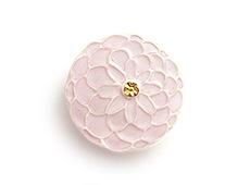 陶器の帯留め ポンポン菊 A. ピンク