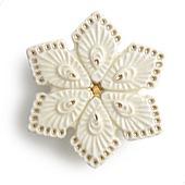 陶器の帯留め 菱形 A. 白