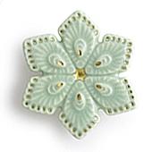 陶器の帯留め 菱形 C. アイスグリーン