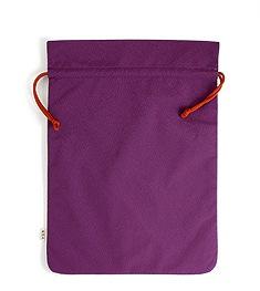 草履きんちゃく袋   C. ちりめん無地(紫)