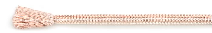 夏の帯締め 畝打ちレース縞撚房  B. ピンク
