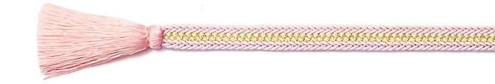 夏の帯締め(帯〆) 誉レースラメ入袴房  C. ピンク