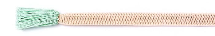 夏の帯締め(帯〆) 角朝レース配色撚房  A. ピンク