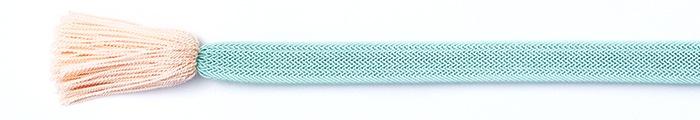 夏の帯締め(帯〆) 角朝レース配色撚房  E. 水色