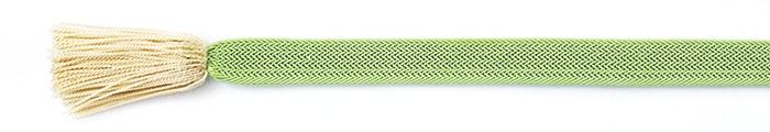 夏の帯締め(帯〆) 角朝レース配色撚房  F. 緑