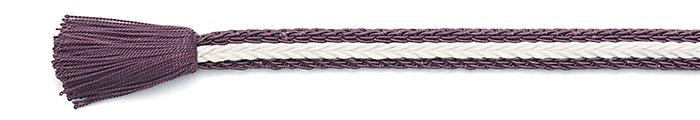 夏の帯締め(帯〆) 綾竹レース撚房  F. 赤紫