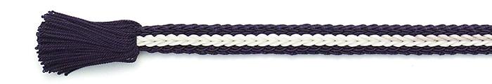 夏の帯締め(帯〆) 綾竹レース撚房  H. 青紫