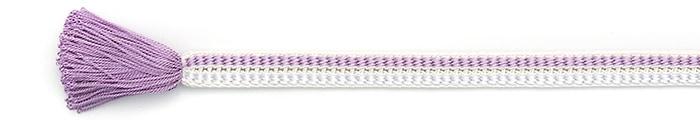 夏の帯締め(帯〆) 源氏レース配色撚房  G. 赤紫