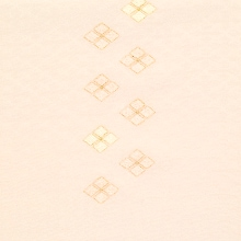 帯揚げ 吸い上げぼかし菱柄刺繍 B. 淡サーモン
