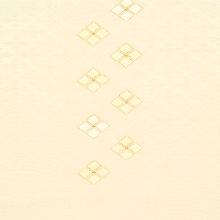 帯揚げ 吸い上げぼかし菱柄刺繍 C. 淡オレンジ