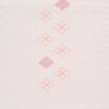 帯揚げ 吸い上げぼかし菱柄刺繍 D. 淡藤