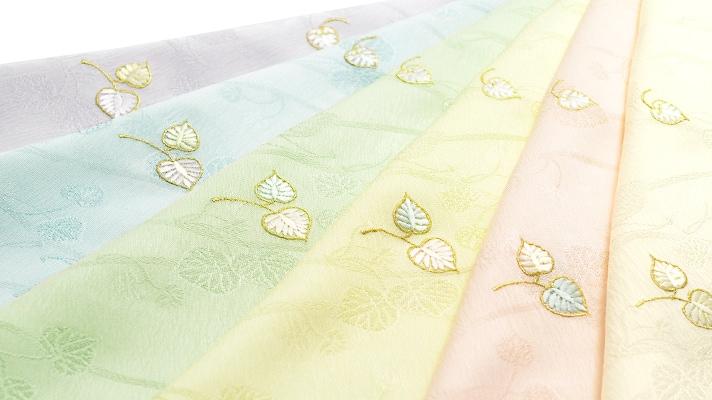 和装小物「帯揚げ 双葉葵刺繍」井澤屋