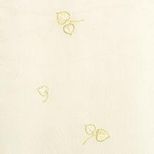 帯揚げ 双葉葵刺繍 A. アイボリー