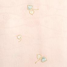 帯揚げ 双葉葵刺繍 B. ピンク