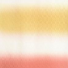 帯揚げ 菱紋意匠横段ぼかし D. 黄金×さび朱