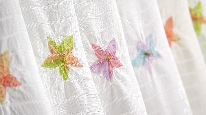 夏の帯揚げ「絽 紋意匠友禅桔梗絞り」和装小物 井澤屋