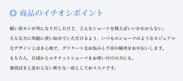 軽失禁ショーツ【カジュアル】『NommaSourire』
