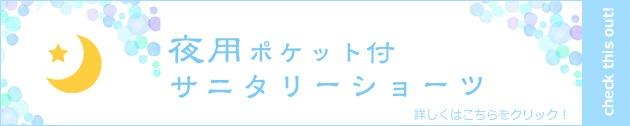 ポケット付サニタリーショーツ【夜用・羽根付対応】