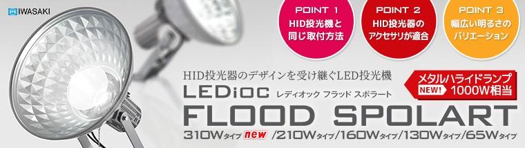 【岩崎電機】HID投光器のデザインを受け継ぐLED投光器。レディオック フラッド スポラート