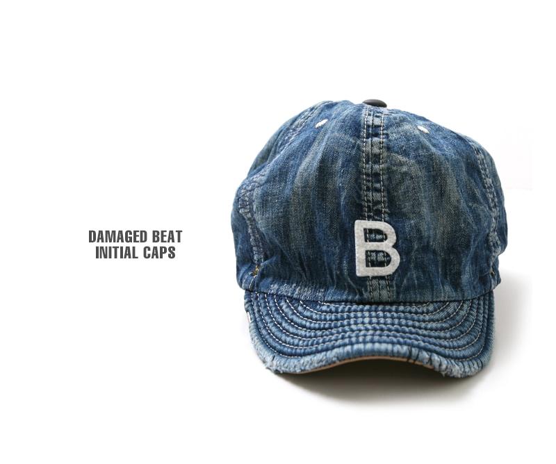 DECHO×アナクロノーム ベースボールキャップ DAMAGED BEAT INITIAL CAPS デコー Anachronorm ANDC-036