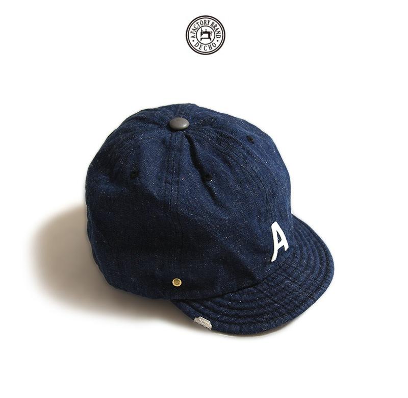 DECHO×ANACHRONORM デコー×アナクロノーム デニムイニシャルキャップ 帽子 ベースボールキャップ ANDC049
