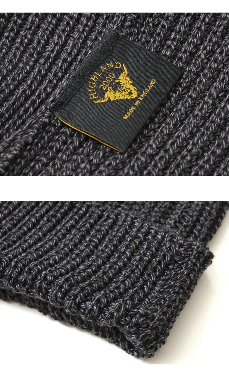 ハイランド2000 コットン ニットキャップ HIGHLAND 2000 ハーフカーディガン ボビーキャップ ニット帽