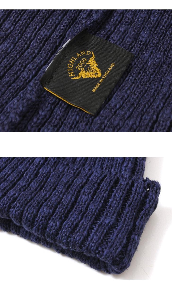 ハイランド2000 ニットキャップ HIGHLAND 2000 コットン リネン ボビーキャップ ニット帽
