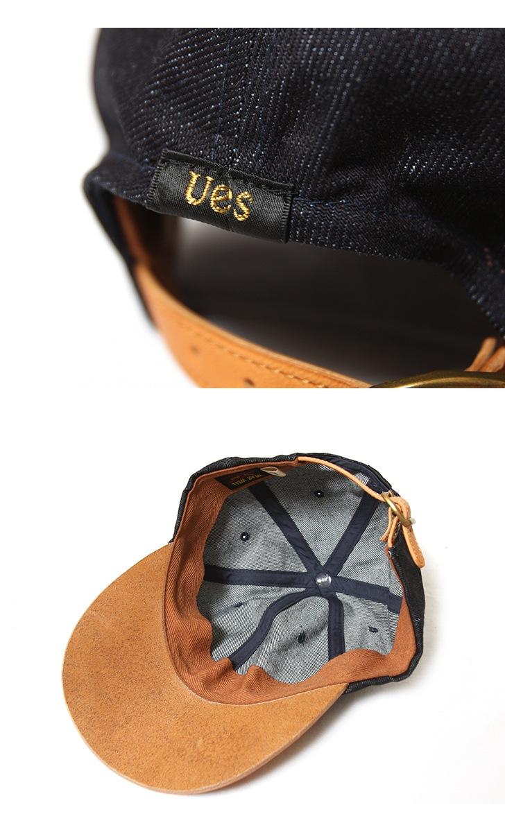 UES レザーキャップ 82LC ベースボールキャップ