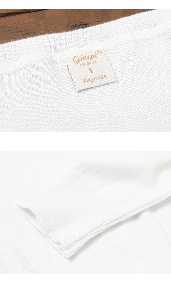 レディース ジチピ Gicipi コットンクルーネックセーター 1708A