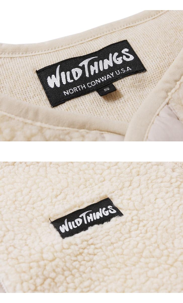 ワイルドシングス Wild Things フラフィーボアノーカラージャケット FLUFFY BOA NO COLLAR JACKET WT19118N